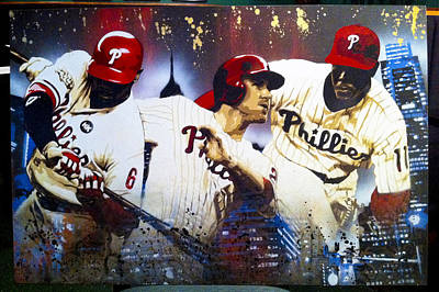 Baseball Art Painting - Philly's Most Dangerous Alternate Version by Bobby Zeik