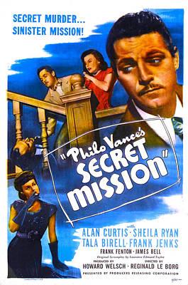 Philo Vances Secret Mission, Us Poster Art Print by Everett