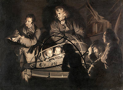 Giving Painting - Philosopher Giving A Lecture On The Orrery by Litz Collection