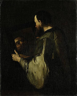 Mirror Drawing - Philosopher With Mirror, Copy After Jusepe Ribera by Litz Collection