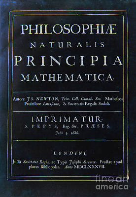 Painting - Philosophiae Naturalis Principia Mathematica by Celestial Images