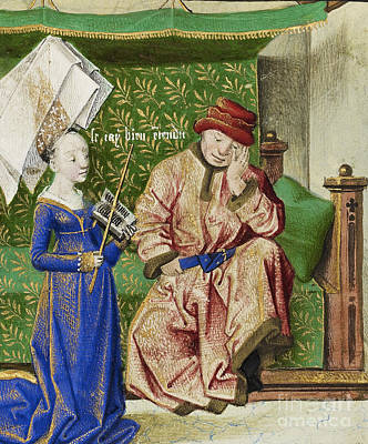 Boethius Photograph - Philosophy Consoling Boethius by Getty Research Institute