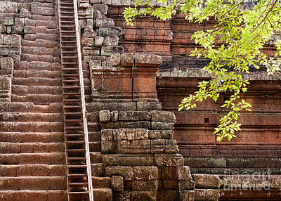 Photograph - Phimeanakas Temple Steps by Rick Piper Photography