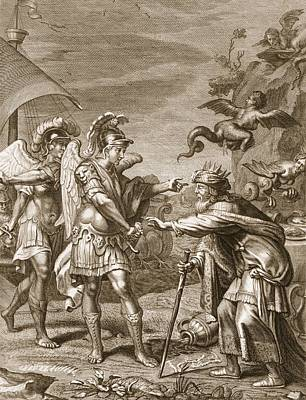 Saving Drawing - Phineus Is Delivered From The Harpies by Bernard Picart