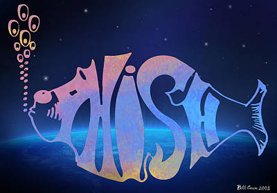 Band Digital Art - Phish by Bill Cannon