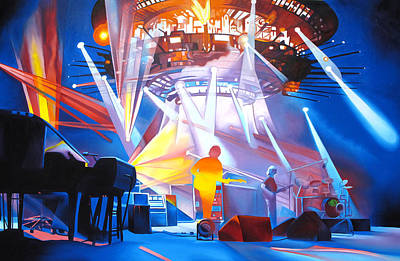 Phish Painting - Phish-in Deep Space by Joshua Morton