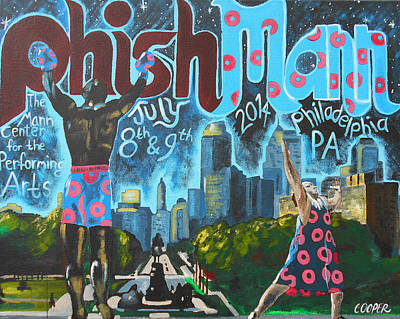 Phish Painting - Phishmann by Kevin J Cooper Artwork