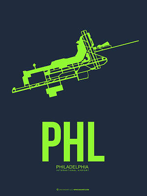 Philadelphia Wall Art - Digital Art - Phl Philadelphia Airport Poster 3 by Naxart Studio