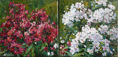Painting - Phloxes For Victoria Diptych by Juliya Zhukova