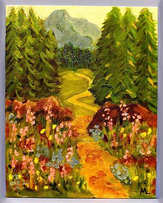 Painting - Phoebe's Trail by Mary LaFever