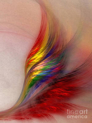 Delicate Digital Art - Phoenix-abstract Art by Karin Kuhlmann