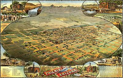 Painting - Phoenix Arizona - 1885 by Pg Reproductions