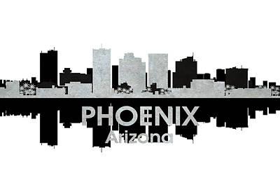 Abstract Skyline Mixed Media - Phoenix AZ 4 by Angelina Tamez