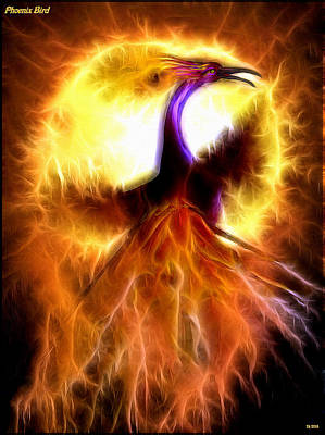 Phoenix Bird Art Print