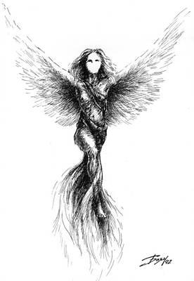 Drawing - Phoenix by Boyan Donev