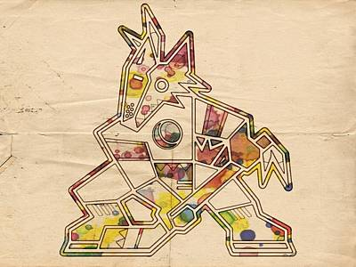 Painting - Phoenix Coyotes Hockey Poster by Florian Rodarte