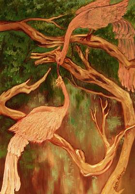 Art Print featuring the painting Phoenix-dares To Love Again by Beth Arroyo