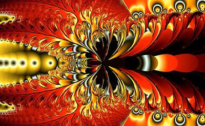 Bright Digital Art - Phoenix Feathers  by Betsy Jones