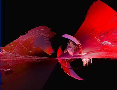 Fractal Digital Art - Phoenix Flames by Betsy Jones
