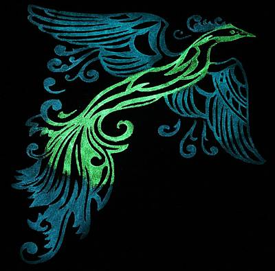 Glow In The Dark Painting - Phoenix In Flight by Twilight Vision