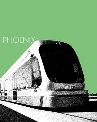 Rail Digital Art - Phoenix Light Rail - Apple by DB Artist