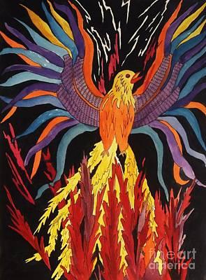 Painting - Phoenix Rising by Ellen Levinson