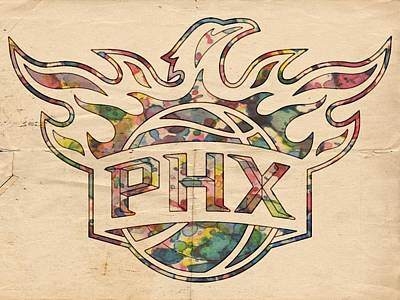 Painting - Phoenix Suns Logo Art by Florian Rodarte