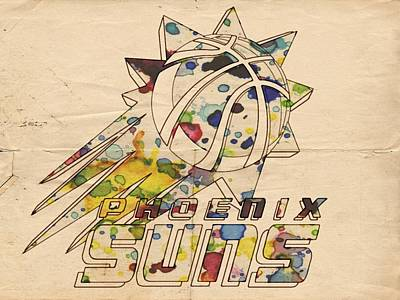 Painting - Phoenix Suns Retro Poster by Florian Rodarte