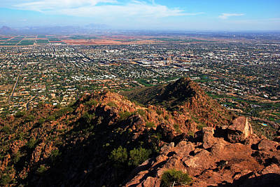 Photograph - Phoenix View From Camelback by Daniel Woodrum