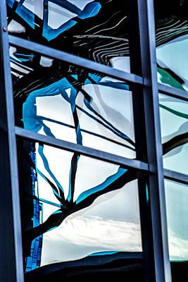 Digital Art - Phoenix Window Reflecting Grids by Georgianne Giese