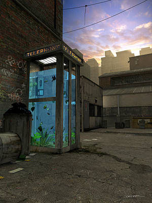 Phone Booth Art Print by Cynthia Decker