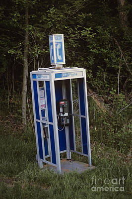 Outmoded Photograph - Phone Booth Dismantled by Jim Corwin