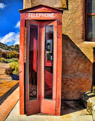 Digital Art - Phone Booth Southwest Style by Ann Powell