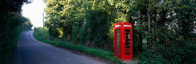 Phone Booth, Worcestershire, England Art Print