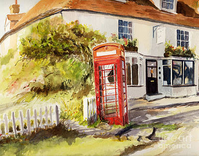 Painting - Phone Box Appledore by Beatrice Cloake