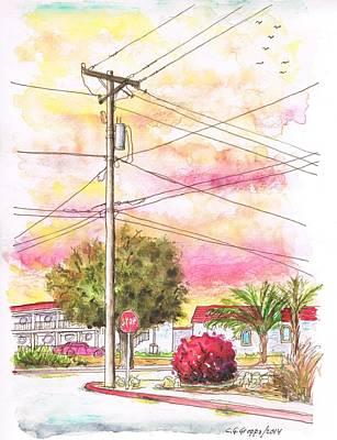 Phone Pole In Arroyo Grande - Californa Art Print by Carlos G Groppa