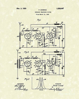 Drawing - Phone System 1925 by Prior Art Design