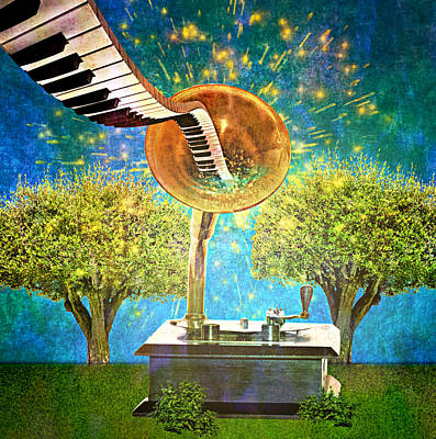 Digital Art - Phonograph Magic by Ally  White