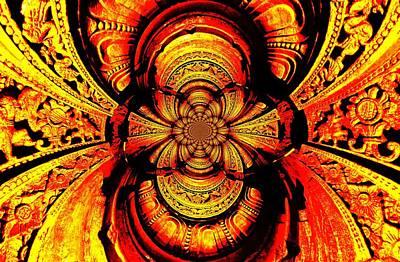 Life Study . Ganesha Photograph - Photo Abstract Carvings by Anand Swaroop Manchiraju