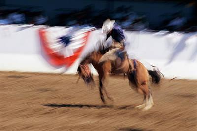 Photo Impression Of Bronco Rider Art Print