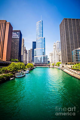 City Scenes Royalty-Free and Rights-Managed Images - Photo of Downtown Chicago with Trump Tower by Paul Velgos