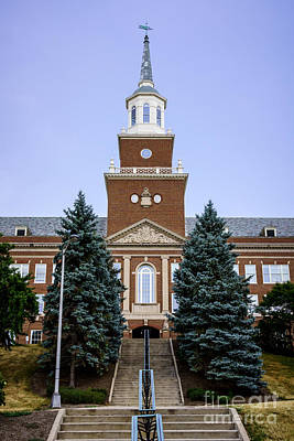 Photo Of Mcmicken Hall At University Of Cincinnati Art Print by Paul Velgos