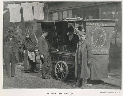 Budgeting Photograph - Photo Of The Brick Lane Jeweller by British Library