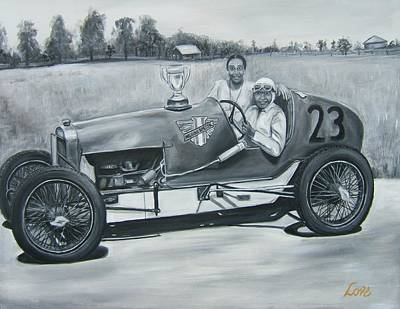 Indy Car Painting - Photo Opportunity by Joseph Love