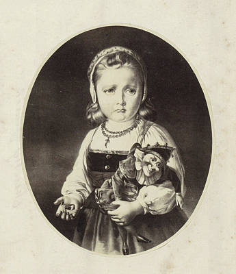 Photo Reproduction Of A Painting Of A Girl With A Jan Art Print