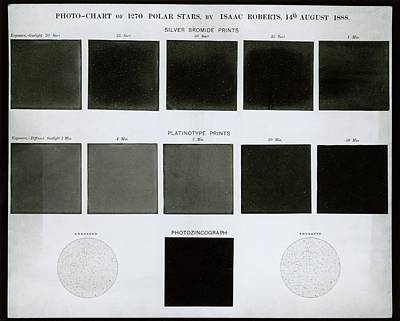 1888 Photograph - Photochart Of Polar Stars by Royal Astronomical Society