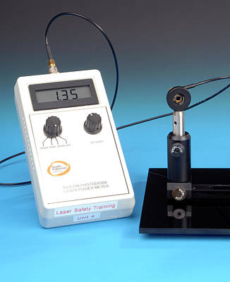 Electronics Photograph - Photodiode Laser Power Meter by Public Health England