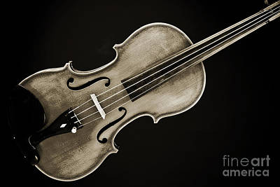 Photograph - Photograph Of A Complete Viola Violin In Sepia 3370.01 by M K  Miller