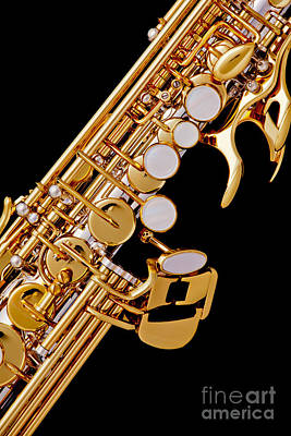 Photograph - Photograph Of A Soprano Saxophone Color 3355.02 by M K  Miller