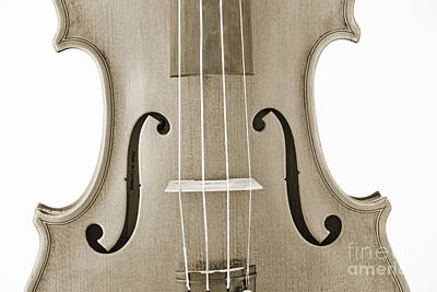 Photograph - Photograph Of A Viola Violin Middle In Sepia 3374.01 by M K  Miller